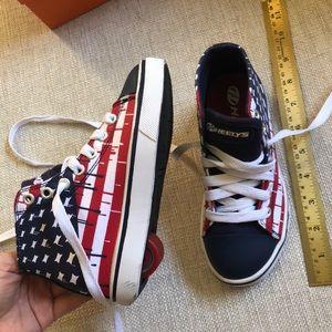 kid's patriotic heelys - new condition / unisex